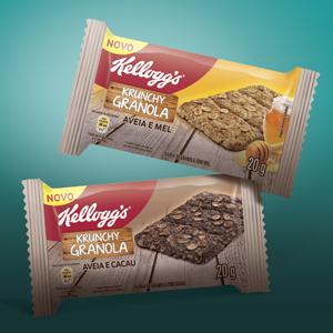 Novidade da Kellog's  granola crocante nos sabores cacau e mel.
