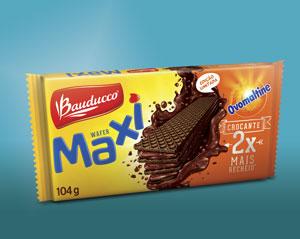 Inovação da linha Wafer Maxi mais recheio e sabor único.