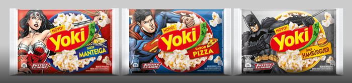 Novas embalagens  super-herois estampam sabores exclusivos.